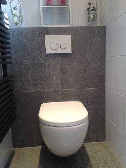 Toilet tegelwerk nico looijmans tegelwerkennico looijmans tegelwerken - Deco toilet grijs en wit ...
